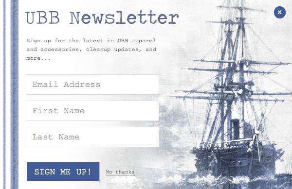 Email Newsletter Form Design