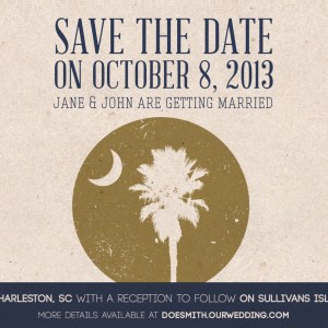 save the date wedding design