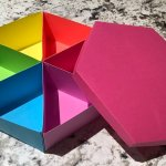 rainbow paper box