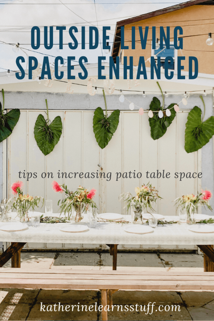 how to add a shelf under a patio table pin