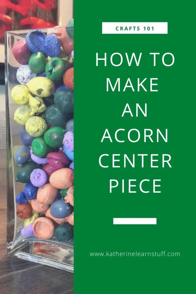 acorn centerpiece pin