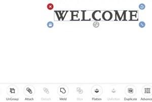 welcome door sign design