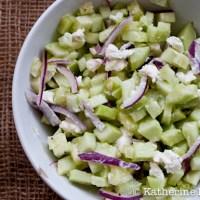 Armenian Cucumber Salad and a Cucumber Blog Hop
