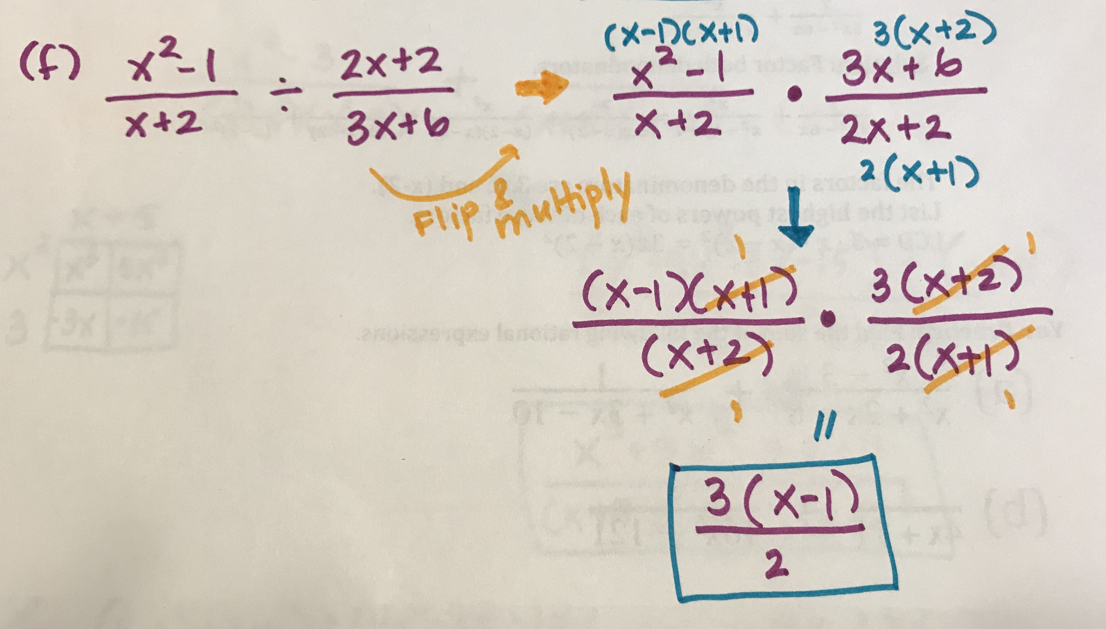 Rational Expressions Worksheet 3 Simplifying Answers