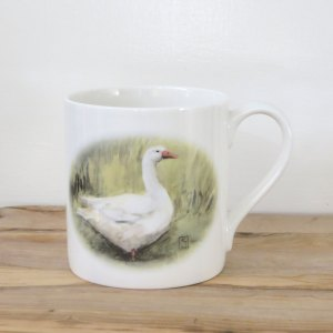 Fine bone china goose mug, goose art mug