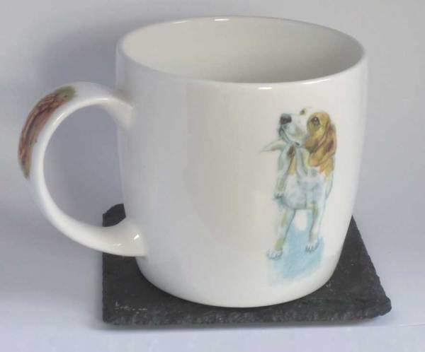 Beagle Eyed fine bone china mug, Hudson and Middleton
