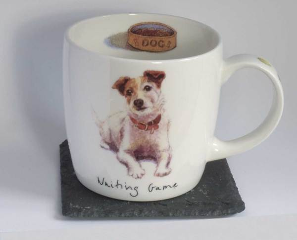 Waiting Game fine bone china Jack Russell terrier mug