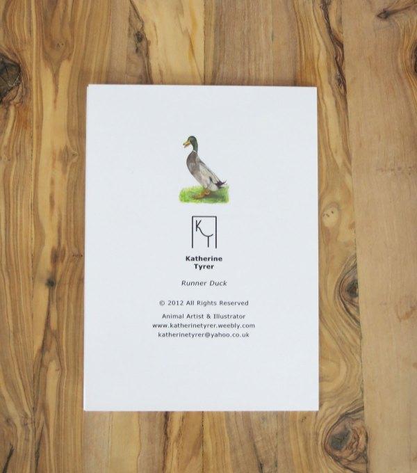 runner duck greetings card