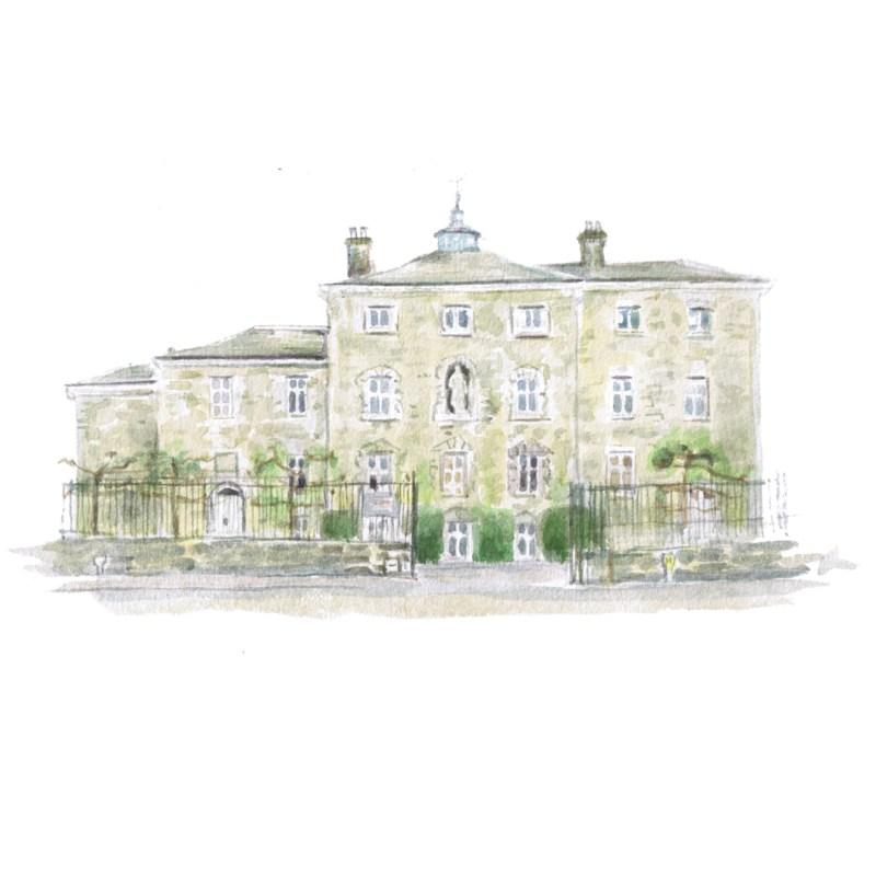 Sevenoaks school watercolour illustration