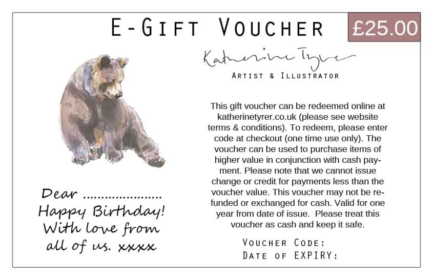 Katherine Tyrer gift card