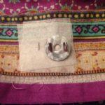 Magnetknopf anbringen / befestigen - Shopper im Ethno Look mit Alpaka Stickdatei von KathieKreativ-19