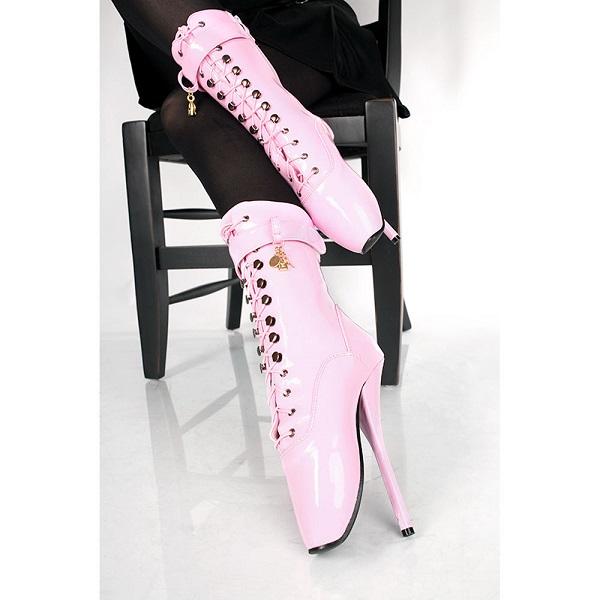 pinke Ballettstiefel / Stiefeletten extrem hoher Absatz von Kassiopeya