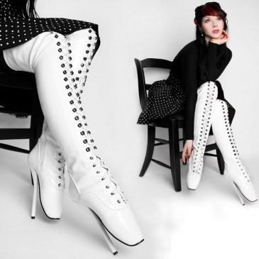 Overknee Ballettstiefel – Boots Weiß