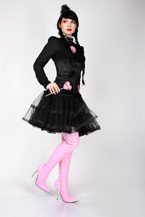Lack Overknee High Heels pink von Kassiopeya