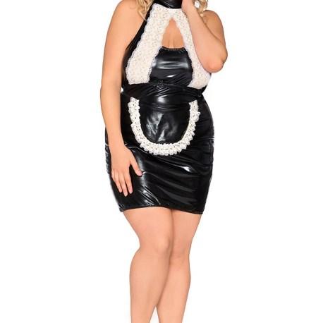 Z/5010 schwarz/weißes Kellnerin Outfit von Andalea Dessous  EAN: 5901885319056