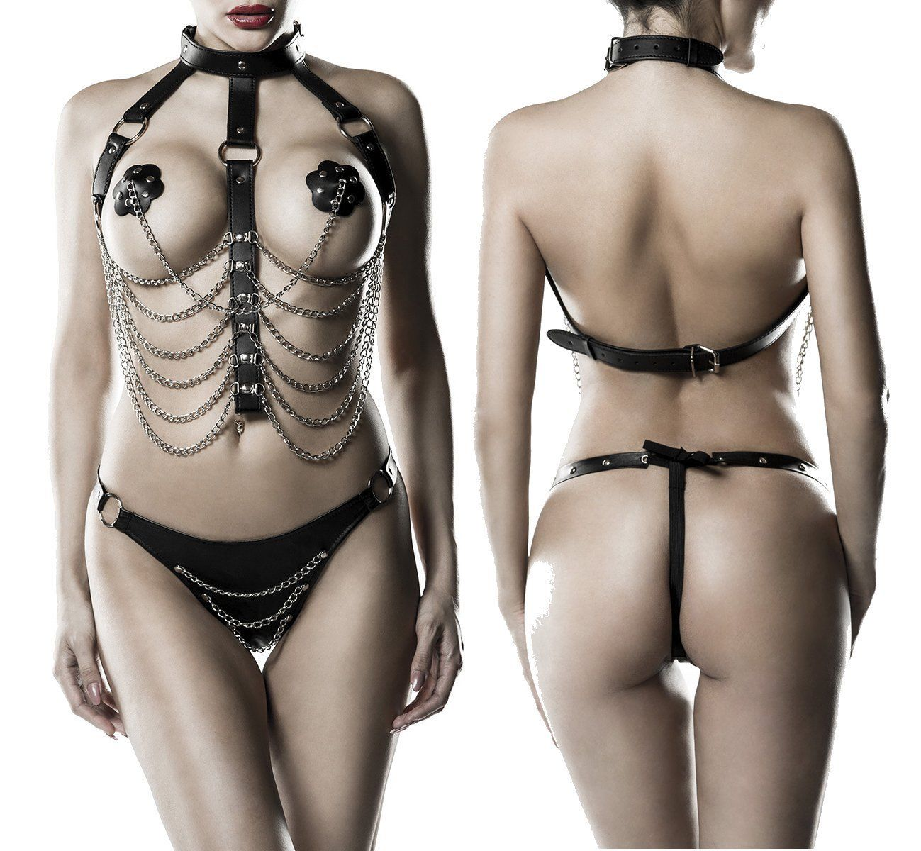 14503  3-teiliges Kettenharness-Set von Grey Velvet