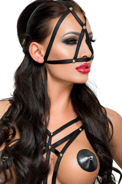 Schwarze Kopfmaske MK 09 von MeSeduce