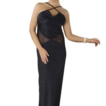 M/1068 schwarzes langes Kleid von Andalea Dessous