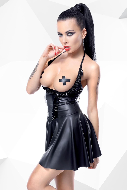 Schwarzes Minikleid Jasmin von Demoniq Hard Candy Collection
