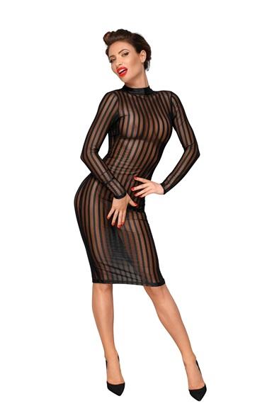 F182 Klassisches Kleid aus weichem und elastischen Tüll von Noir Handmade Decadence Collection  EAN: 5903050102241