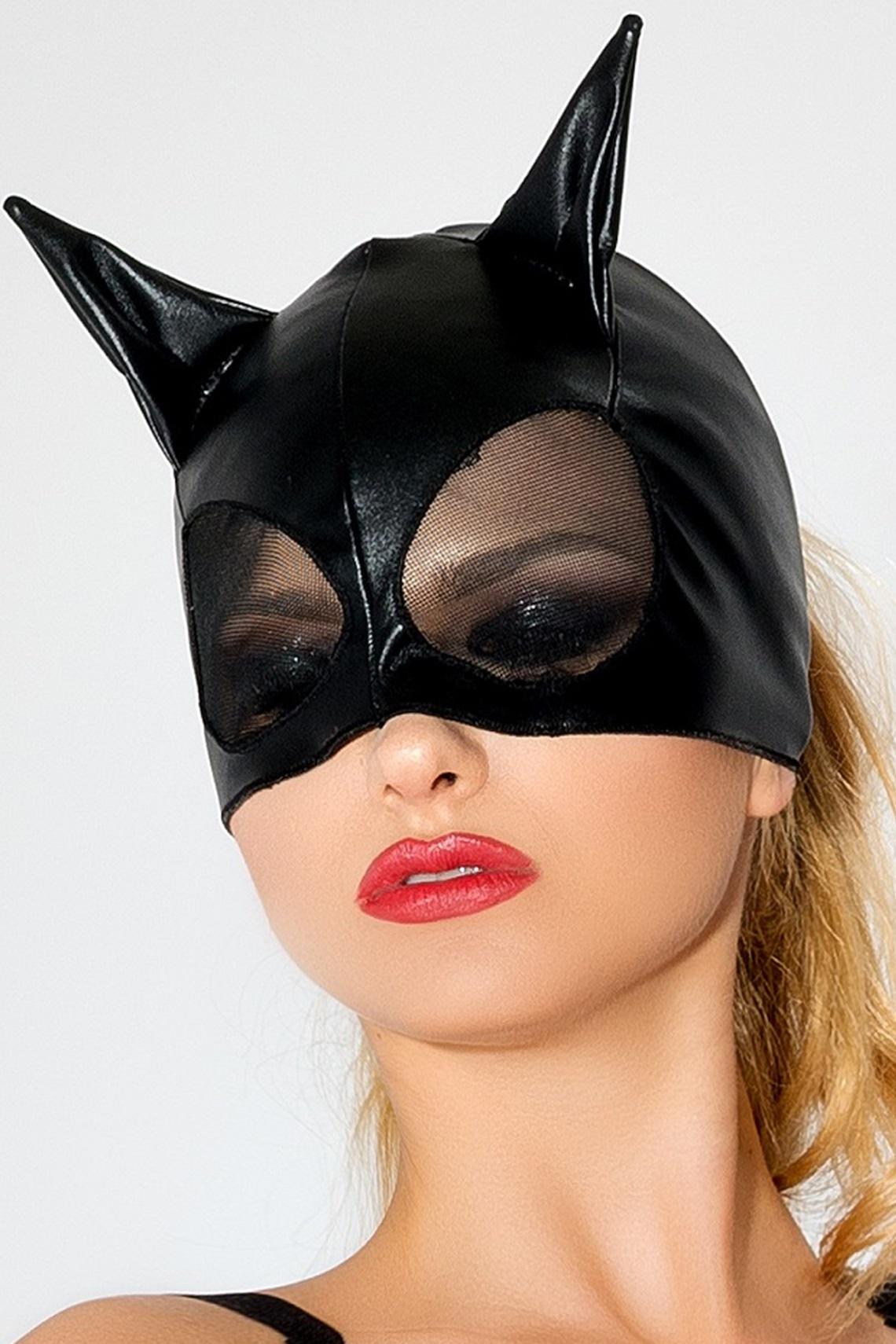 MK 01 schwarze Katzenmaske von MeSeduce