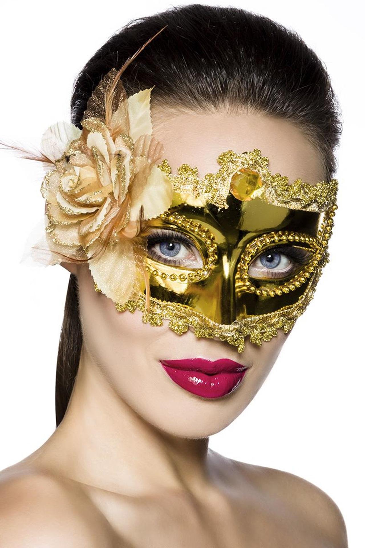 11851 Venezianische Gesichtsmaske / Metallmaske