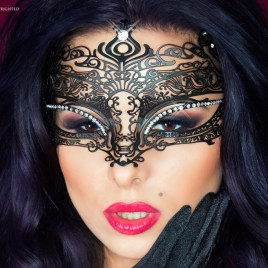 CR3807 Mysterious Chili Mask schwarz von Chilirose Dessous – 5902015022600