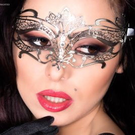 CR3809 Mysterious Chili Mask Silber von Chilirose Dessous – 5902015022631