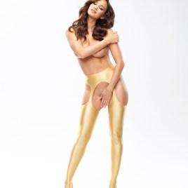 MI SP800 strip panty pantyhose gold von MissO