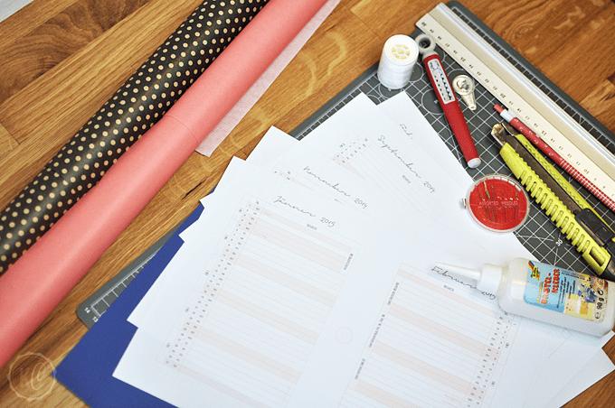 DIY-Planer für Schule und Studium