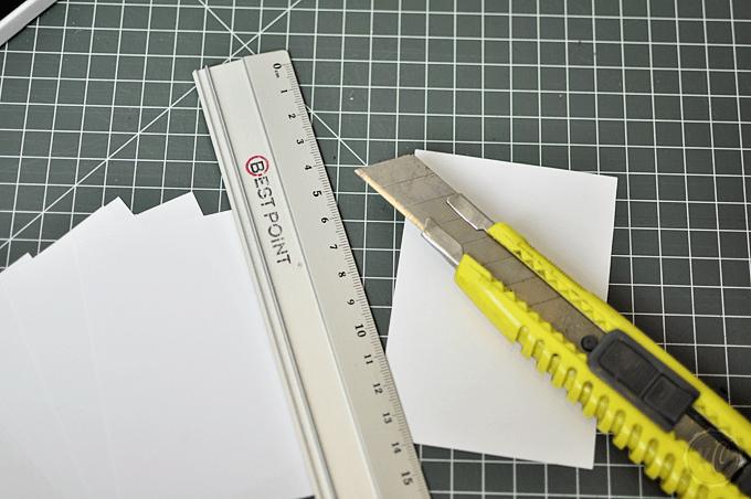 Notizblock Papier schneiden