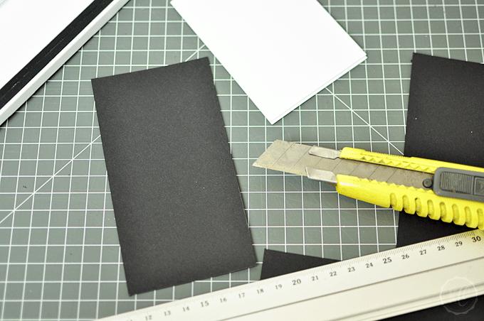 Notizblock Cover Rückseite schneiden