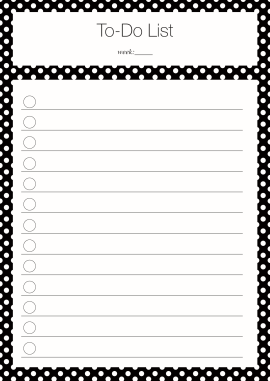 To Do List Polka Dot black Freebie