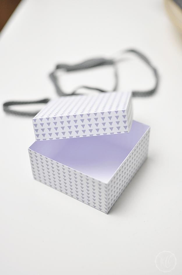 Geschenkbox aus Papier