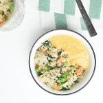Quinoa mit Gemüse und Linsen-Karotten-Dip | Kathie's Cloud