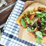 Vegane Gemüsepizza