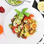 Gebratene Gnocchi mit Gemüse und Chili-Dressing