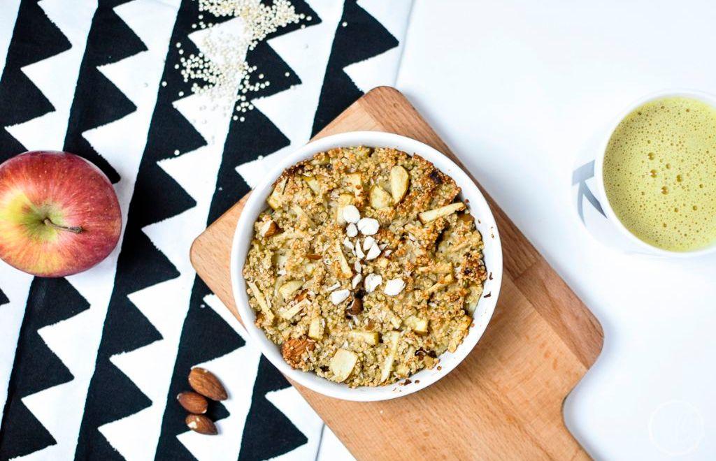 Gebackener Quinoa als Frühstück