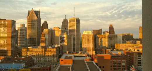 Sunrise over the Detroit