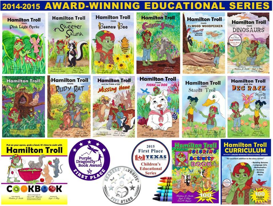 Hamilton Troll award-winning educational children's book series by author Kathleen J. Shields