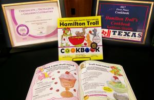 Hamilton Troll Cookbook Wins 2 Awards Purple Dragonfly and Texas Association of Authors First Place