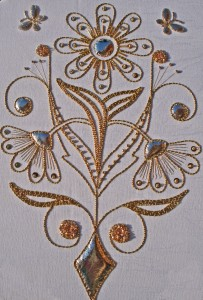 Gold Work Daisy