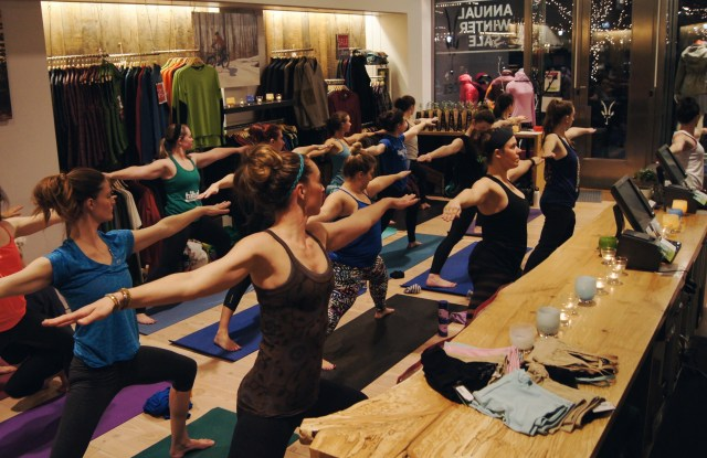 SheJumps and Ibex Seattle Yoga Event