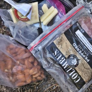 Backpacking Meal Salami and Cheese