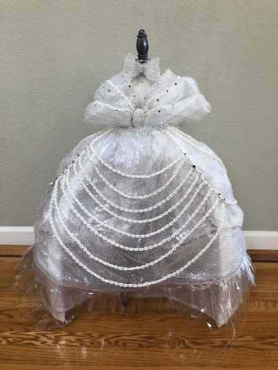 Bubble wrap and 3D printed chain dress