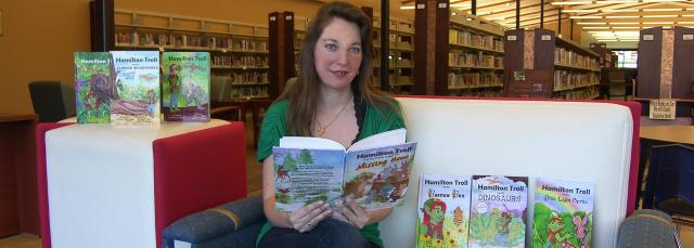 Author Reading to Visiting Children