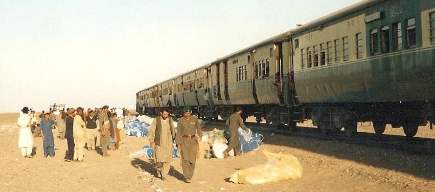 The train to Quetta in Pakistan