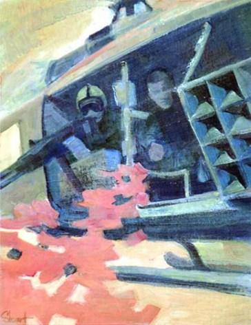 Vietnam Combat Art by by Craig L. Stewart, 1969-70
