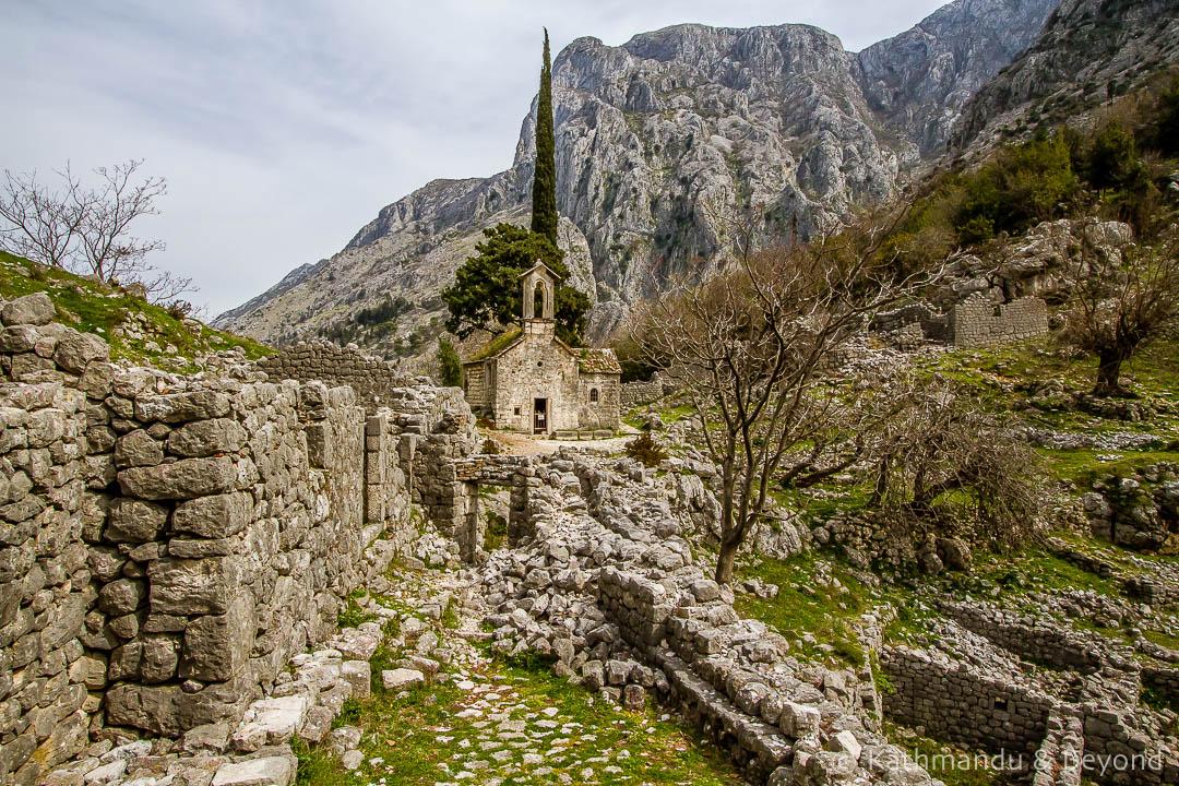 Travel Shot | St. George Church on St. John Mountain in Kotor | Montenegro