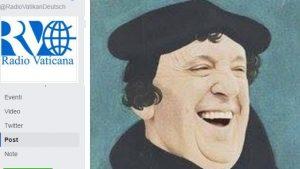 Von Radio Vatikan (Deutschen Sektion) am 6.11.2016 veröffentlichte Photomontage: Papst Franziskus als Luther